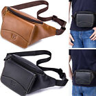 Men Women Fanny Pack Vintage Genuine Leather Belt Bum Hip Pouch Travel Chest Bag