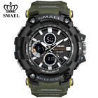 SMAEL Men Military Watch Dual Display Sport Watches LED Quartz Male Wristwatches image