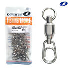 Ball Bearing Fishing Swivel with Fast Snap Clip Stainless Steel Connector Tackle $13.79 USD on eBay