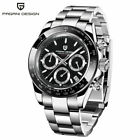 PAGANI DESIGN Chronograph Waterproof Men's Japan Quartz Wrist Watch Steel Band image