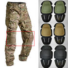 Sports Tactical Combat Protective Pad Set Gear Military Knee Elbow Protector New image