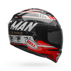 BELL Qualifier DLX MIPS Equipped IOM Helmet BLACK RED Isle Of Mann
