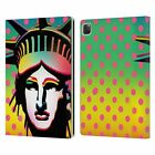 MARK ASHKENAZI POP CULTURE LEATHER BOOK WALLET CASE COVER FOR APPLE iPAD