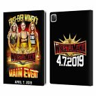 OFFICIAL WWE WRESTLEMANIA 35 LEATHER BOOK WALLET CASE FOR APPLE iPAD