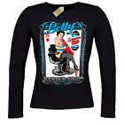 Betty's Rockabilly Greaser Barber Shop T-Shirt ladies long sleeve