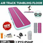 20FT Airtrack Air Track Floor Inflatable Gymnastics Tumbling Mat GYM w/ Pump image
