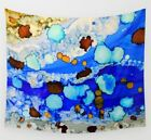Wall Tapestry Wall Hanging Printed in USA Abstract 23 blue turquoise art L.Dumas