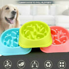 Pet Bowl Dog Cats Interactive Slow Food Feeder Gulp Feeds Maze Plastic Dish UK