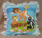 Handmade Bambi Pillow Cover Bambi and Butterfly 14 x 14 Inch