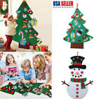 Kid Children DIY Felt Xmas Tree Snowman Ornament Decor Christmas Gift New Year
