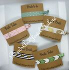 Bride hair ties bachelorette party bridal party hold hair back-message card