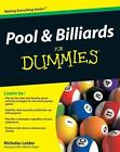 Pool and Billiards For Dummies by Nicholas Leider (English) Paperback $9.99 USD on eBay