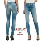Jeans REPLAY pantaloni da donna JOI jeggins vita alta stretto stretch WBX654 69C