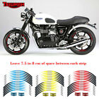 For TRIUMPH RIM STRIPES STEREO PASTERS MOTORCYCLE WHEEL STICKER DECALS TAPE $23.22 AUD on eBay
