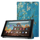 For Amazon Kindle Fire HD 10 9th Gen 2019 Case Painting Leather Smart Flip Cover