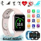 Xmas Gifts Women Girl Waterproof Smart Watch Heart Rate Bracelet For Android IOS