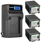 Kastar Battery LCD Wall Charger for Canon BP-828 BP-820 Canon XA30 Video Camera