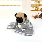 Pet Dog Blanket Gray Bone Pet Dog Blanket Kennel Cat Litter Bath Wrap Towel New