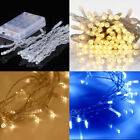 50 LED Battery Operated String Fairy Lights Twinkle Steady Outdoor Indoor X'mas