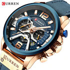 CURREN Men Quartz Watch Brand Chronograph Wristwatch Male Strap Calendar Watches