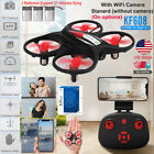 Mini RC Drone WiFi 720P HD Camera FPV LED Helicopter Quadcopter Remote+3 Battery