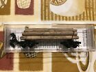 N scale, Micro Trains Line, Disconnect /Skeleton Log Cars, NOS