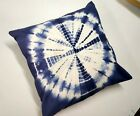 Indian Decorative Shibori Cushion Cover Tie Dye Throw Pillowcases Indigo Sg 1080