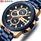 CURREN Luxury Men Gold Watch Casual Male Calendar Watches Chronograph Wristwatch image