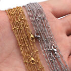 1.5/2mm Width Stainless Steel Bead Chain Necklaces DIY Jewelry Findings