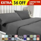 4/6 Piece 1800 Count Bed Sheet Set Extra Deep Pocket Sheets - 7 Colors Available image