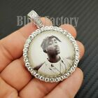 """2Pac Picture Frame Pendant & 16"""" 18"""" 20"""" Iced Rhinestone Chain Fashion Necklace"""