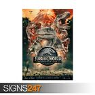 JURASSIC WORLD (ZZ089) MOVIE POSTER Photo Picture Poster Print Art A0 to A4
