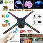 50CM WIFI 3D Hologram Projector HD 4 Fan LED Holographic Advertising Player 8G
