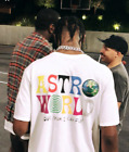 TRAVIS SCOTT ASTROWORLD T-SHIRT white tour concert merch off jordan supreme hat image