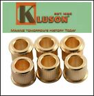 """NEW - Kluson 10mm to Vintage 1/4"""" Post Conversion Adapter Bushings Set of 6"""