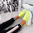 NEW WOMENS LADIES CHUNKY SNEAKERS LACE UP PARTY TRAINERS LACE UP SHOES SIZE