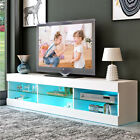 Kyпить 57'' TV Cabinet Stand Unit LED Lights Shelves 2 Drawers Wood Console Table Home на еВаy.соm