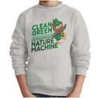 Clean Green Nature Woodsy The Owl Nature Boys Pullover Crewneck Sweatshirts