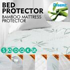 Ultra Soft Bamboo Mattress Cover Topper Bed Protector Waterproof Hypoallergenic image