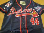 Brand New! BLUE Atlanta Braves #44 Hank Aaron cooperstown 2patches Jersey MEN'S on Ebay