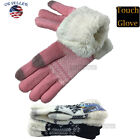 Touch Screen Winter Gloves Women Warm Knit Thermal Insulated Gifts 1