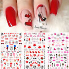 Nail Art Water Decals Valentine's Series Transfer Stickers Nail Wraps Decoration