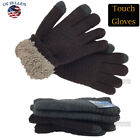 Men inter Snow Gloves Windproof Warm Thick Knit Thermal Insulated Gift 4