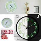 Luminous Glow 12 Inch Wall Clock Silent Large Quartz Bedroom Office Night Clocks