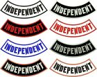 INDEPENDENT ROCKER PATCH BOTTOM SIDE NO CLUB LONER MOTORCYCLE BIKER SEW IRON ON