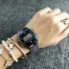New Wristwatches Stainless steel Rainbow color LED Fashion Bear Watch image
