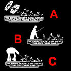 Star Wars Empire Doesnt Care Stick Figure Family Funny Car Vinyl Decal Sticker $0.99 USD on eBay