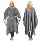 Catalonia Sherpa Wearable Blanket Poncho Wrap Blanket Cape Warm Soft Cozy Gift image