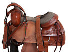 HORSE SADDLE 15 16 INCH SEAT LEATHER WESTERN FLORAL WORM TACK SET ROPING RANCH