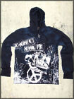 Salvage Skull Seed Discontent Nihil Bleach Stitch Mens Zip Hoodie Navy Blue S-XL